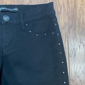 Express Jeans - Express Stella legging jeans black studded size 4